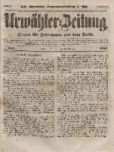 Urwähler-Zeitung : Organ für Jedermann aus dem Volke, Sonntag, 24. Oktober 1852, Nr. 250.