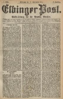 Elbinger Post, Nr.215 Mittwoch 15 September 1875, 2 Jh
