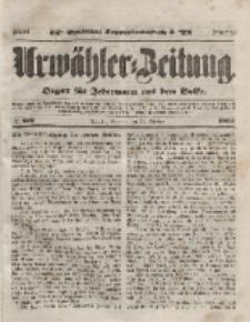 Urwähler-Zeitung : Organ für Jedermann aus dem Volke, Sonntag, 31. Oktober 1852, Nr. 256.