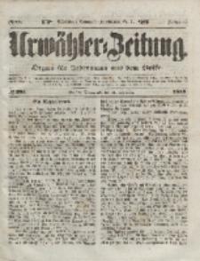 Urwähler-Zeitung : Organ für Jedermann aus dem Volke, Sonnabend, 11. Dezember 1852, Nr. 291.