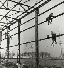 Spółdzielnia Mleczarska w Pasłęku (budowa) [fotografie]