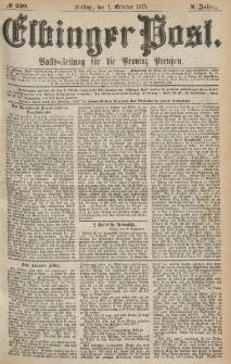 Elbinger Post, Nr.229 Freitag 1 October 1875, 2 Jh