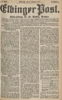 Elbinger Post, Nr.233 Mittwoch 6 October 1875, 2 Jh