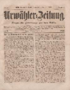 Urwähler-Zeitung : Organ für Jedermann aus dem Volke, Dienstag, 11. Januar 1853, Nr. 8.