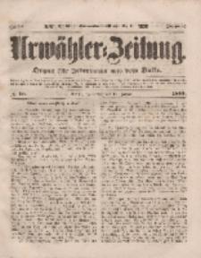 Urwähler-Zeitung : Organ für Jedermann aus dem Volke, Donnerstag, 13. Januar 1853, Nr. 10.