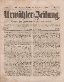 Urwähler-Zeitung : Organ für Jedermann aus dem Volke, Freitag, 21. Januar 1853, Nr. 17.
