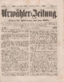 Urwähler-Zeitung : Organ für Jedermann aus dem Volke, Mittwoch, 2. Februar 1853, Nr. 27.