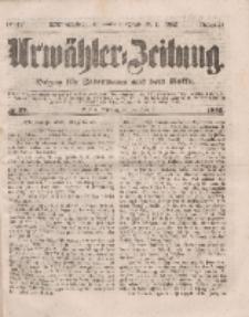 Urwähler-Zeitung : Organ für Jedermann aus dem Volke, Mittwoch, 16. Februar 1853, Nr. 39.