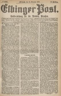 Elbinger Post, Nr.239 Mittwoch 13 October 1875, 2 Jh