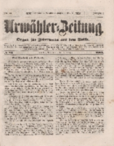 Urwähler-Zeitung : Organ für Jedermann aus dem Volke, Donnerstag, 3. März 1853, Nr. 52.