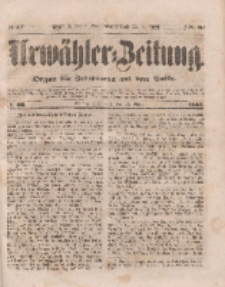 Urwähler-Zeitung : Organ für Jedermann aus dem Volke, Sonnabend, 19. März 1853, Nr. 66.