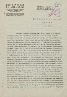 Der Stadtrat zu Nürnberger - Magistrat Stadt Elbing / Abt. III. - korespondencja (10.03.1934)