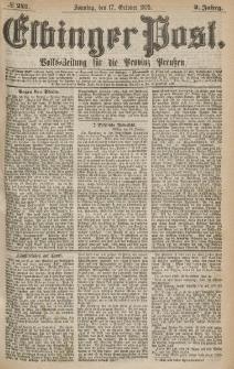 Elbinger Post, Nr.243 Sonntag 17 October 1875, 2 Jh