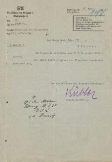 Der Führer der Brigade 5, Elbing - Magistrat der Stadt Elbing (Büro III) - korespondencja (26.03.1934 r.)