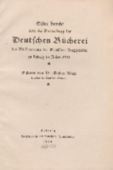 Erster Bericht über die Verwaltung der Deutschen Bücherei des Börsenvereins der Deutschen Buchhändler, 1913