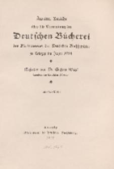 Zweiter Bericht über die Verwaltung der Deutschen Bücherei des Börsenvereins der Deutschen Buchhändler, 1914