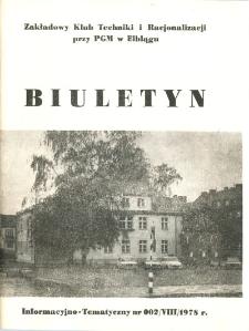 Biuletyn Informacyjno-Tematyczny nr 002/VIII/1978 r. - broszura