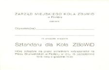 Zarząd Miejskiego Koła Związku Bojowników o Wolność i Demokrację w Pasłęku Zaprasza na Uroczyste Wręczenie Sztandaru dla Koła Związku Bojowników o Wolność i Demokrację - zaproszenie