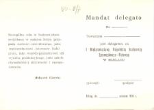 Mandat Delegata Wojewódzkiej Rady Związków Zawodowych w Elblągu - druk