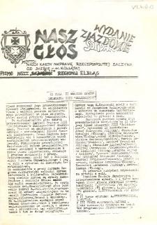 """Nasz Głos. Biuletyn Informacyjny NSZZ """"Solidarność"""" Regionu Elbląskiego, 1990, wydanie zjazdowe [wydanie powielaczowe]"""