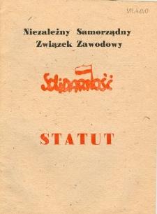 """Niezależny Samorządny Związek Zawodowy """"Solidarność"""" - Statut - druk urzędowy"""