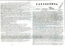 """Zarządówka. Uchwały i informacje NSZZ """"Solidarność"""" Regionu Elbląskiego, 1989, [wydanie powielaczowe]"""