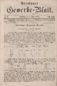 Breslauer Gewerbe-Blatt [...]. VIII. Band. 11. Januar, 1862, Nr. 1.