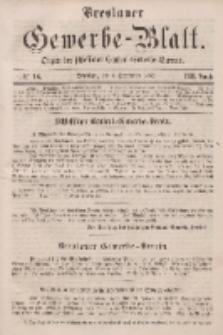 Breslauer Gewerbe-Blatt [...]. VIII. Band. 6. September, 1862, Nr. 18.