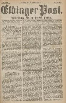 Elbinger Post, Nr.256 Dienstag 2 Nowember 1875, 2 Jh