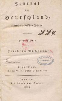 Journal für Deutschland, historisch, politischen Inhalts, 1815, Bd. 1.