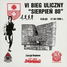 """VI Bieg Uliczny """"Sierpień 80"""" [etykieta samoprzylepna]"""