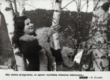 marzec - 1978, Wiosenny krajobraz z dziewczyną w kożuszku