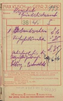 Firma Max Kusch & Gebr. Ilgner, Elbing (paragon)