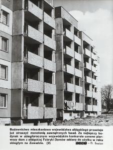 "Fasada bloku na elbląskim osiedlu ""Zawada"""