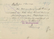 Oberbürgermeister Elbing - Polizeiflugwache Elbing - korespondencja (20.03.1934 r.)