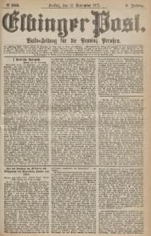Elbinger Post, Nr.265 Freitag 12 Nowember 1875, 2 Jh