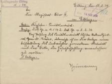 Polizeiflugwache Elbing - Oberbürgermeister Elbing - korespondencja (13.02.1934 r.)