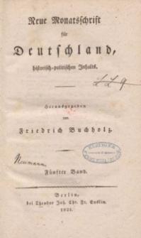 Neue Monatsschrift für Deutschland, Historisch-Politischen Inhalts, 1821, Bd. 5.