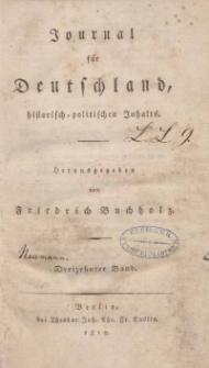 Journal für Deutschland, historisch, politischen Inhalts, 1819, Bd. 13.