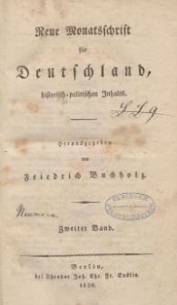 Neue Monatsschrift für Deutschland, Historisch-Politischen Inhalts, 1820, Bd. 2.