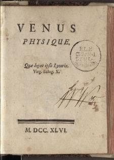 Venus physique