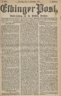 Elbinger Post, Nr.267 Sonntag 14 Nowember 1875, 2 Jh