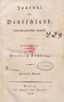 Journal für Deutschland, historisch, politischen Inhalts, 1815, Bd. 2.