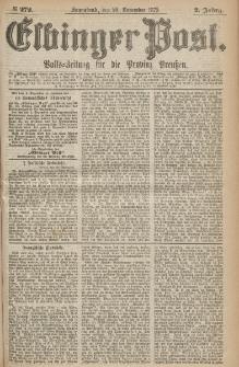 Elbinger Post, Nr.272 Sonnabend 20 Nowember 1875, 2 Jh