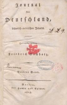 Journal für Deutschland, historisch, politischen Inhalts, 1815, Bd. 3.