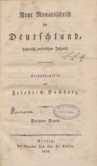 Neue Monatsschrift für Deutschland, Historisch-Politischen Inhalts, 1820, Bd. 3.