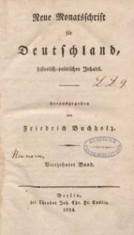 Neue Monatsschrift für Deutschland, Historisch-Politischen Inhalts, 1824, Bd. 14.