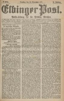 Elbinger Post, Nr.274 Dienstag 23 Nowember 1875, 2 Jh