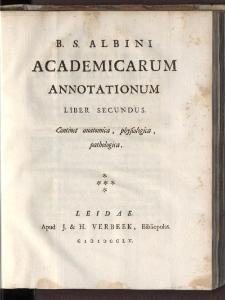 Academicae Annotationes... T. 2.