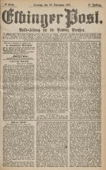 Elbinger Post, Nr.279 Sonntag 28 Nowember 1875, 2 Jh
